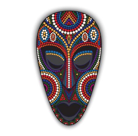 ベクトル カラフルな民族アフリカ マスク