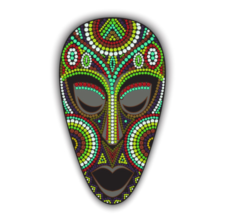art and craft: Vector colorful ethnic african mask