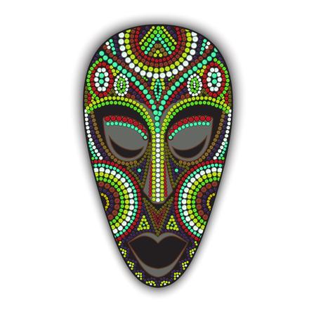 ilustraciones africanas: Vector colorido máscara africana étnica