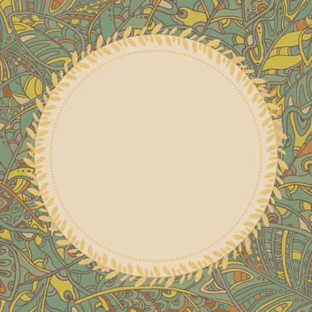 ornamental background: Decorative ornamental background with leaves.