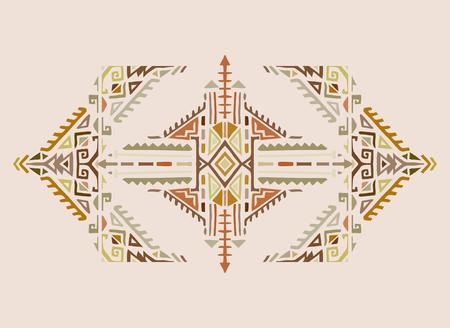 部族芸術自由奔放に生きる幾何学模様。カラフルなエスニック プリント。生地、布のデザイン、壁紙、ラッピング  イラスト・ベクター素材