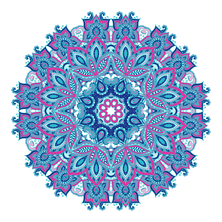 Vector mandala pattern of henna floral elements