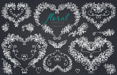 Hand drawn floral wedding and holiday collection.