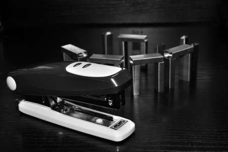 stapler and spare bracket Stock Photo - 16519657