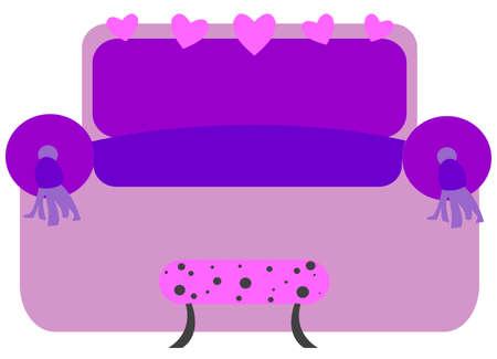 violet sofa Vector