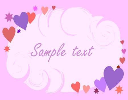 valentine card Vector
