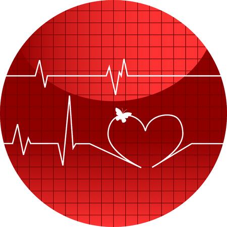 diseases: Vector illustration of cardiogram of love Illustration