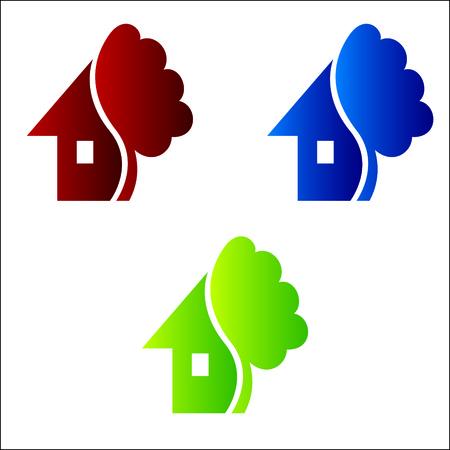 case colorate: Modello logotipo vettoriale