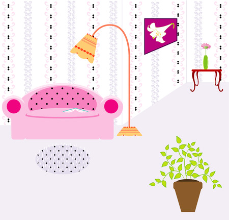 Vector illustration of interior Vector