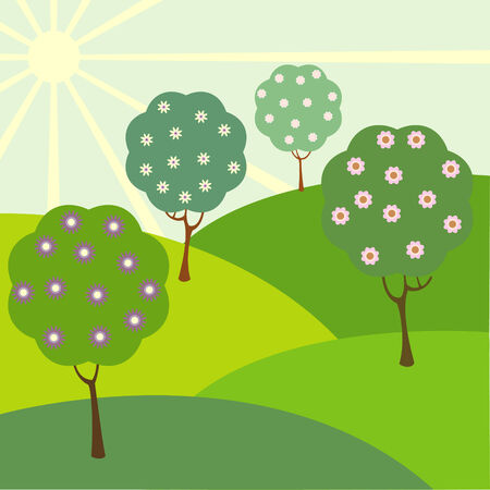 Vector illustration of landscape Vector