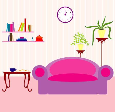 Vector illustratie van interieur  Stock Illustratie