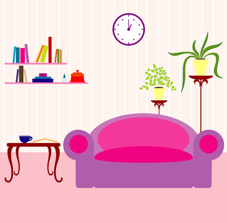 interior decoration: Vector illustration of interior Illustration