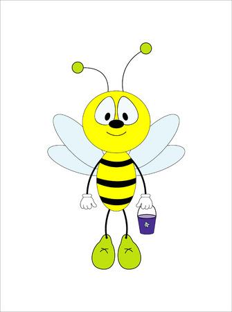 honeybee: Fun honeybee. Vector Illustration