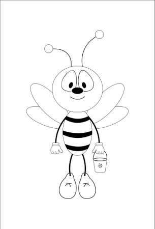 Fun honeybee. Vector Stock Vector - 5385663