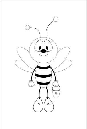 Fun honeybee. Vector Vector