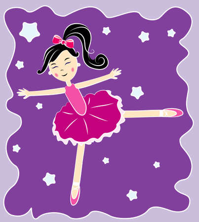 Vector illustration of ballerina Vector