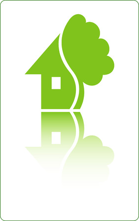House with tree. Vector
