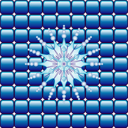 Abstract vector background with  snowflake Vector