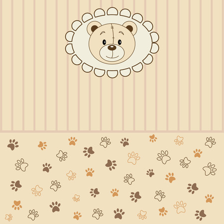 Vector background pattern  with teddy bear Stock Vector - 5575436