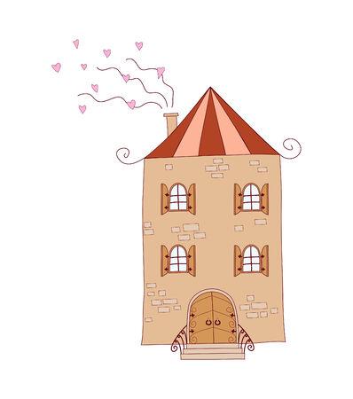 fun illustration of house