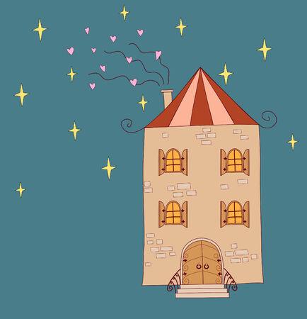 fun illustration of house Illustration