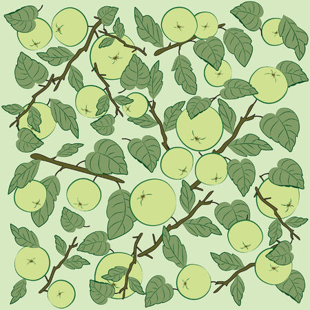 Vector background pattern with apples
