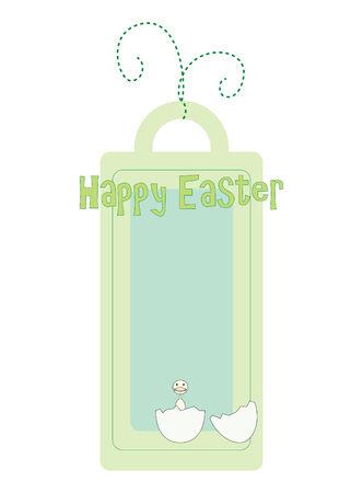 Buona Pasqua - progettazione etichetta Archivio Fotografico - 6529816