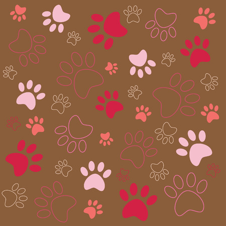 background pattern with tracks  Ilustrace
