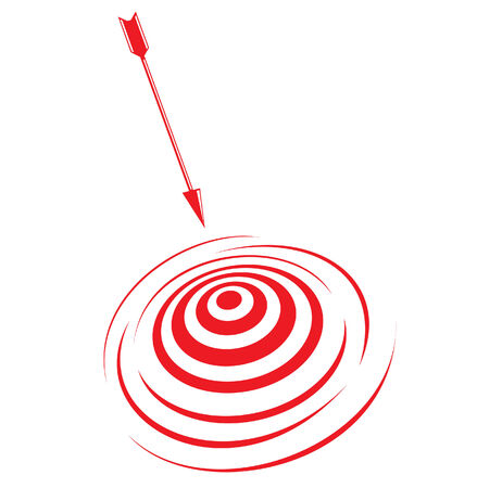 illustration of target and arrow Stok Fotoğraf - 6672724