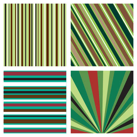 Four striped background pattern Illustration