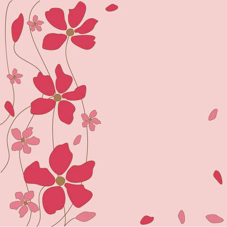 Floral pink background Stock Vector - 7007753