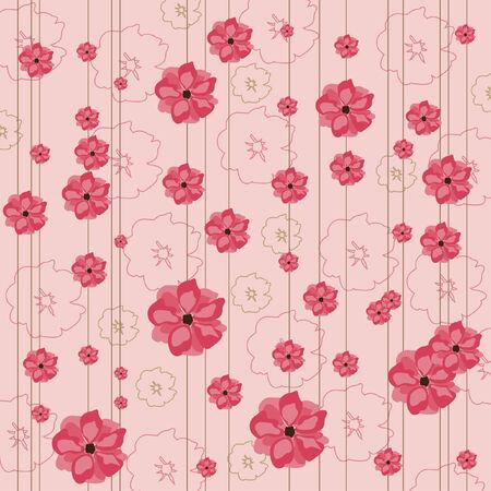 Fondo de color rosado floral