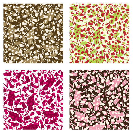 Four seamless background pattern Stock Vector - 7007802