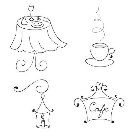 cafe table:  restaurant elements