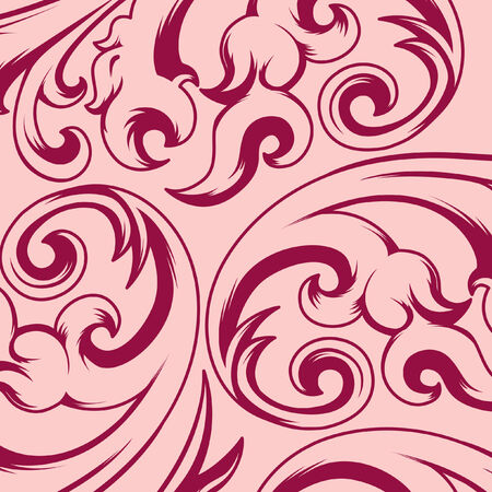 victorian wallpaper: Seamless vintage background pattern Illustration
