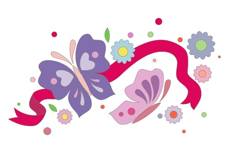 illustration with butterflies
