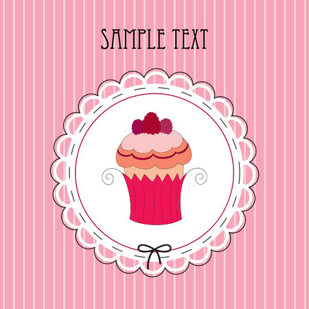 illustration of card with muffin Illustration