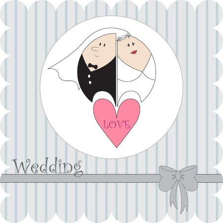 Tarjeta de boda  Foto de archivo - 7007810