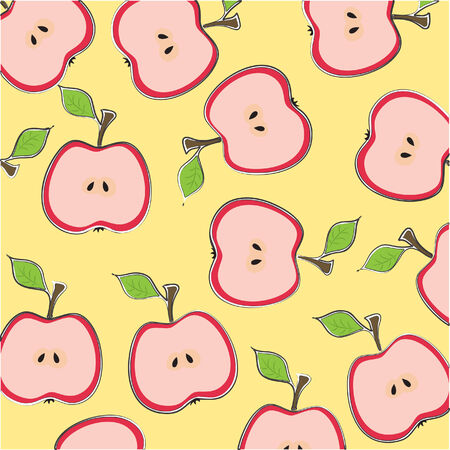 Seamless wallpaper with apples
