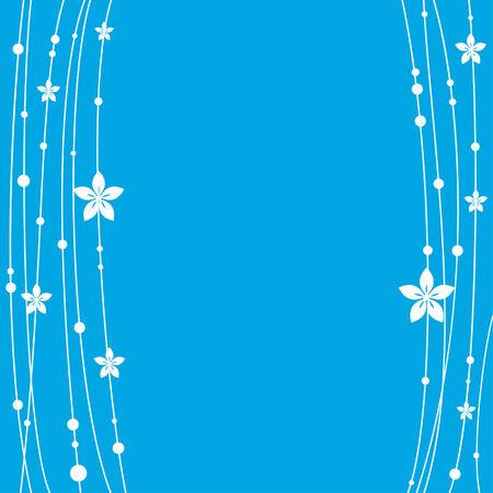 Blue floral card Ilustração