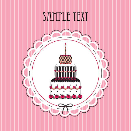 illustration of card with cake Vector