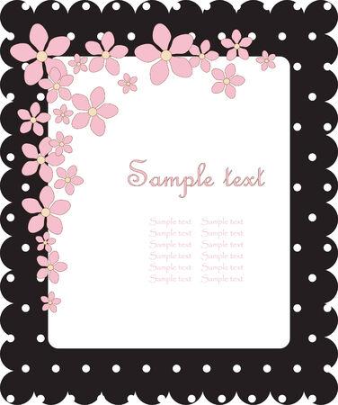floral cute card Vector