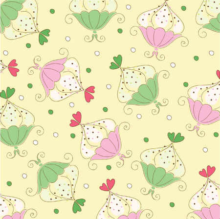 Seamless wallpaper pattern with muffins  Vector