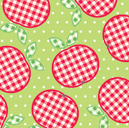 Seamless background pattern with apples Stock Vector - 7060524