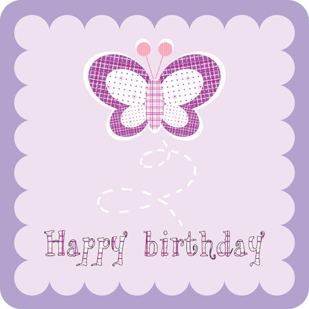 purple butterfly:  birthday card