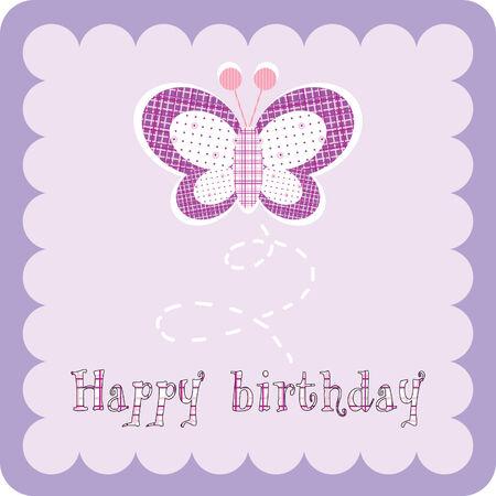 dessin papillon: carte d'anniversaire