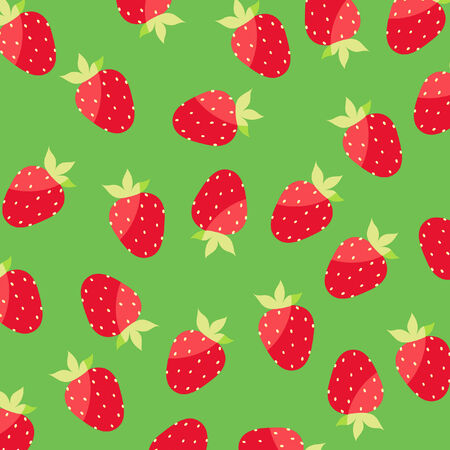 Seamless wallpaper with strawberries Vector