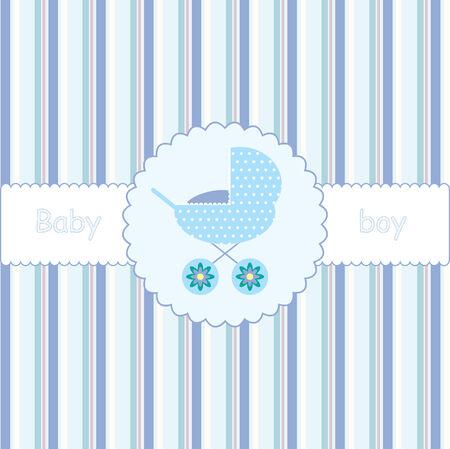 perambulator: carta per baby shower