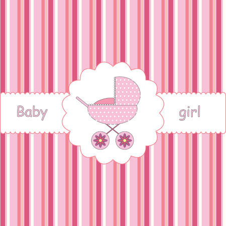 card for baby-shower Иллюстрация