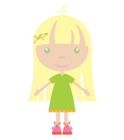 illustration of cute girl